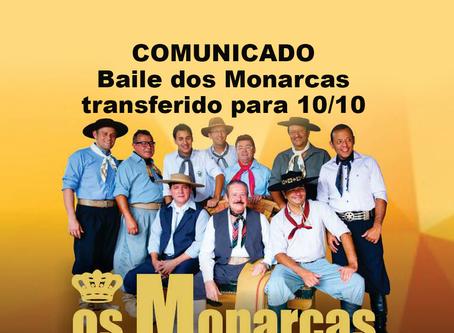 COMUNICADO - Baile transferido