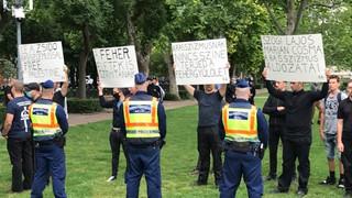 Hazafiak is megjelentek a négerimádók tüntetésén – Mozgalmunk feljelenti az antifa szervezőket