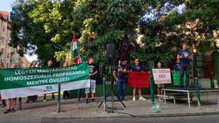 Megfutamodott a Háttér Társaság a nemzeti ellenállás tüntetése miatt