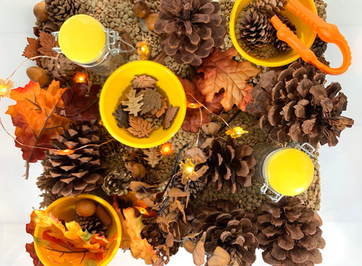 falling for autumn sensory bin