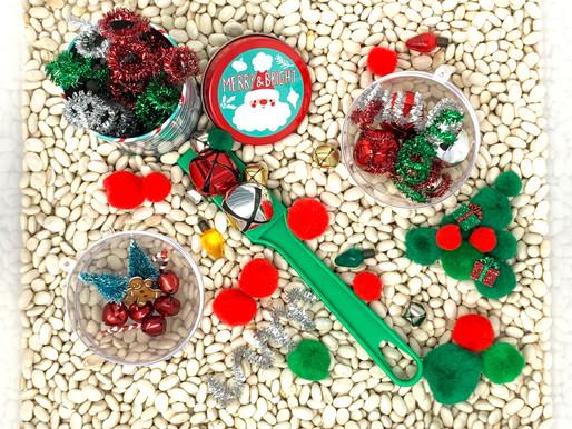 Magnetic Christmas Sensory Bin