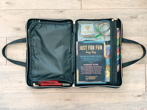how we pack & store our busy bags