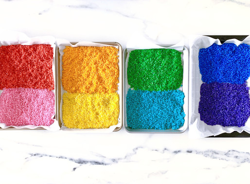 4 ways to sensory play with dyed rice
