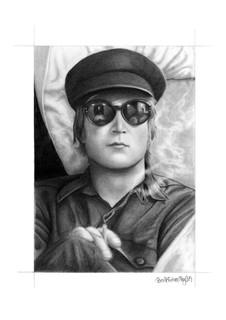 Beatles Art • John Lennon in Sunglasses Art Print
