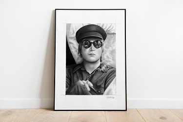 The Beatles Art Print | John Lennon Art Print | Gift for Beatles Fan | The Beatles Gift | The Beatles | John Lennon | 1960s Music Art Print