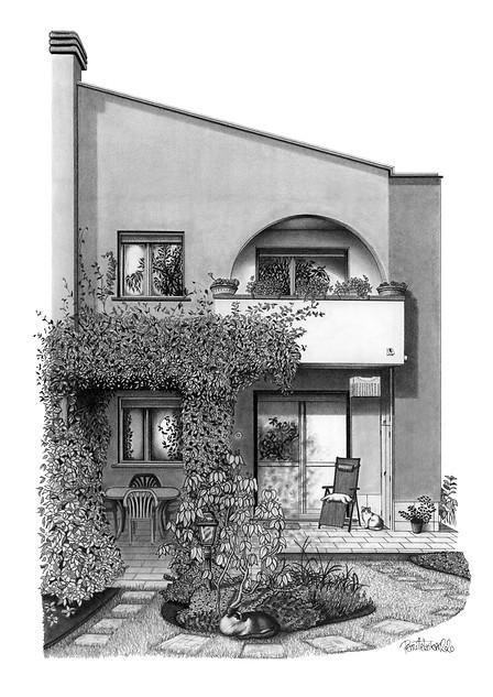 MILAN HOUSE ILLUSTRATION - VIEW >