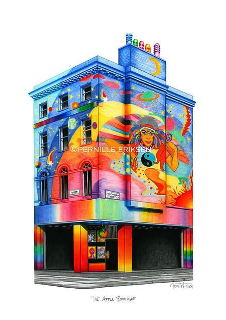 THE BEATLES ART PRINT: THE APPLE BOUTIQUE - VIEW >