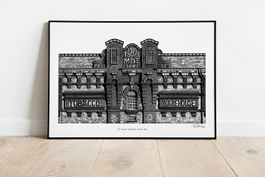 Liverpool Art Print | Liverpool Illustration | Liverpool Waterfront Print | Liverpool City Art | Liverpool Architecture | Liverpool Gift
