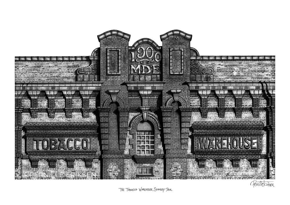 Liverpool Art Print | Liverpool Illustration | Liverpool Waterfront Print | Liverpool City Art | Liverpool Architecture | Liverpool Gift