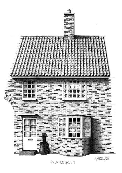 Beatles Art Print | Beatles Liverpool Home | Beatles Homes Art Print | George Harrison's Childhood Home | Liverpool Art Print