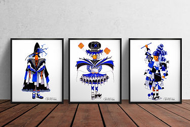 Scandinavian Art Prints | Home Office Art | Kids Wall Art | Set of Three A4 Art Prints | The Carla Collection | Scandinavian Design | Nordic