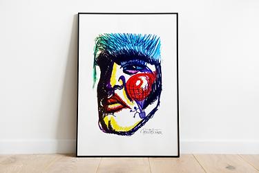 Elvis Presley Art Print | Noel Fielding's Art Club | Pop Art | Elvis Presley Illustration | Elvis Fan Gift | A4 A3 Art Print | Scandi Art