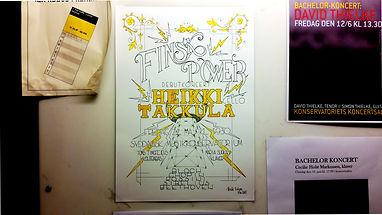 Concert Poster for Finnish Cellist Heikki Takkula