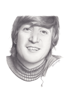 Beatles Art • John Lennon Art Print