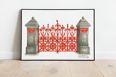 The Beatles Art Print | Strawberry Fields Art Print | Liverpool Art Print | The Beatles Illustration Print | Beatles Gift | Home Office Art