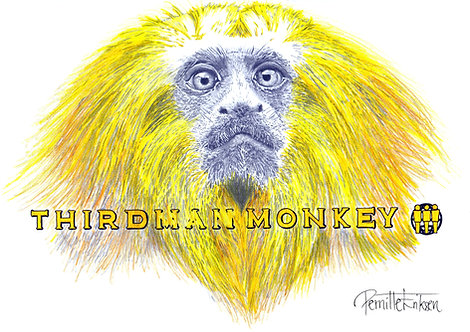 Third Man Monkey - Third Man Records - Jack White - Nashville Record Label - Yellow Art Print