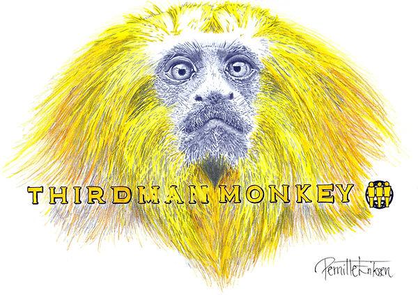 Jack White Poster | Third Man Monkey | Third Man Records | Yellow Wall Decor