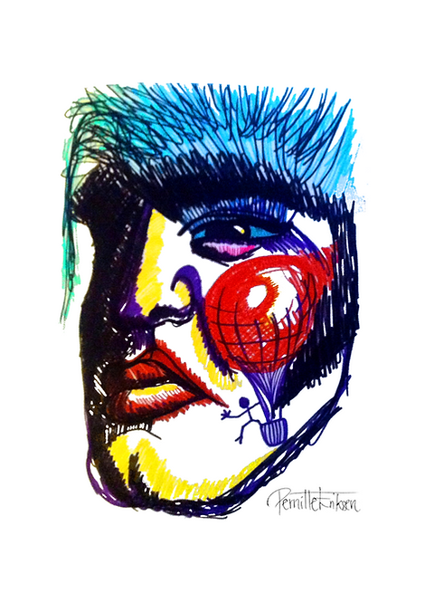 Elvis Presley Art Print | Noel Fielding's Art Club | Noel Fielding | Elvis Fan Gift | Elvis Illustration | Elvis Pop Art