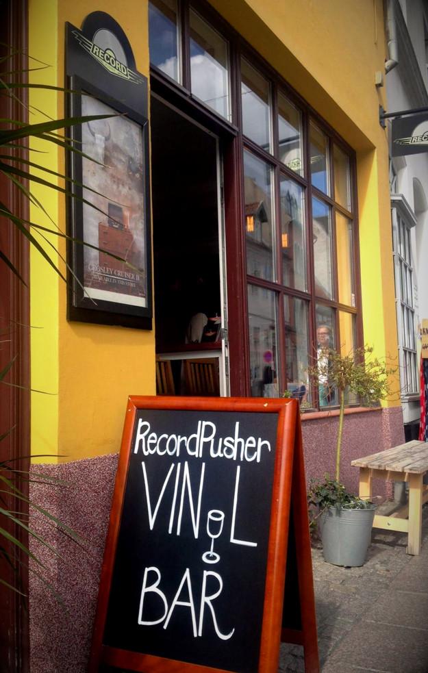 Handpainted signs for Danish Record Shop RecordPusher. Original art by Artist Pernille Eriksen.