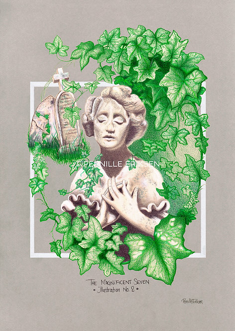 Urban Jungle | Botanical Art | Leaf Print | Green Print | Highgate | Hampstead | Hampstead Heath | Highgate Cemetery
