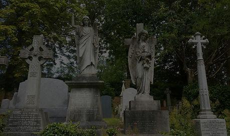 Highgate Cemetery _ Leaves Print _ Botan