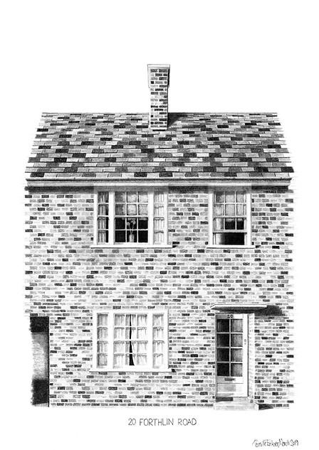 THE BEATLES ART PRINT: PAUL MCCARTNEY'S LIVERPOOL HOME - VIEW >