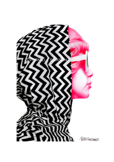 Pop Art • Rock 'n' Roll Muse 65-1 Art Print in Pink