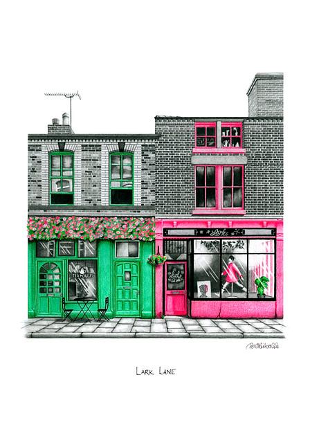 LIVERPOOL ART PRINT: LARK LANE - VIEW >