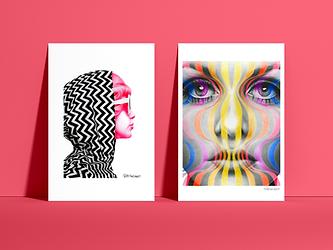 1960s Art Prints | Twiggy Art Print | Pattie Boyd Art Print | Rock 'n Roll Muses Art Prints