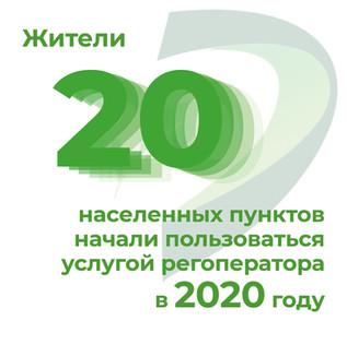 +20 населенных пунктов c начала 2020 года
