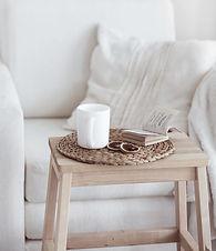 Still life interior details, cup of coff