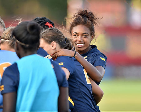 stock-photo-college-park-md-august-west-virginia-s-nia-gordon-shown-in-the-pregame-huddle-prior-to-3