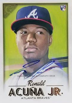Acuna 2018 Topps Gallery Auto RC