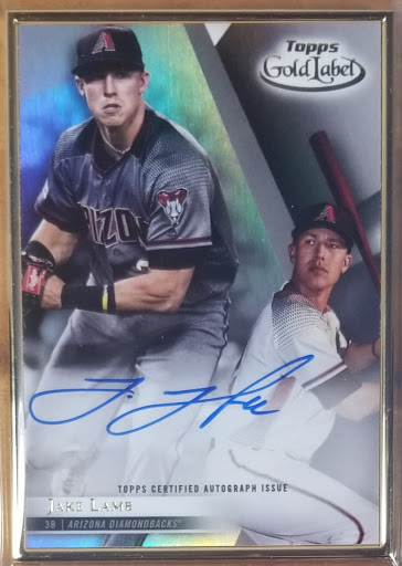 Jake Lamb Gold Label Framed Auto
