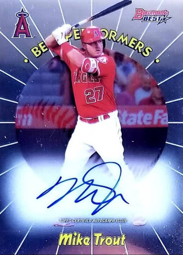 Mike Trout 2018 Bowman's Best - Best Performer Auto /30