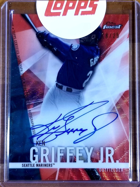Griffey 2017 Finest Red Wave Auto Redemption Return