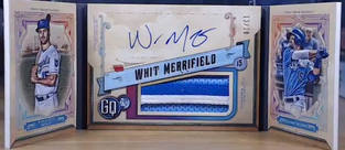 Whit Merrifield 2019 GQ Booklet Auto Patch /20