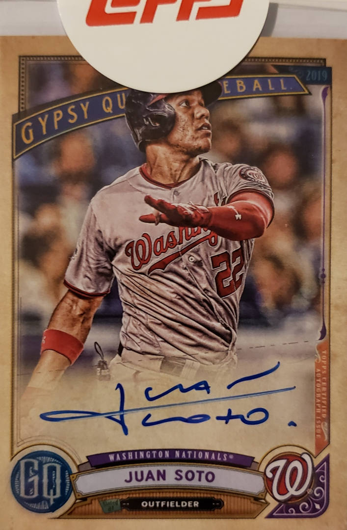 Juan Soto Redemption from 2019 Gypsy Queen