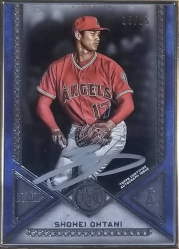 Ohtani 2019 Museum Collection Silver Frame Silver Ink Auto