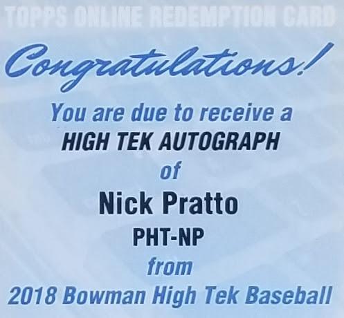 Nick Pratto High Tek Redemption