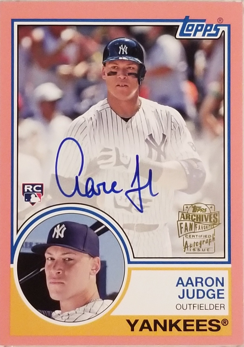 Aaron Judge Rookie Autograph