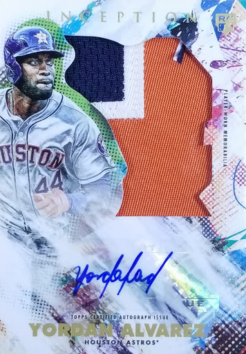 Yordan Alvarez 2020 Inception Auto Relic RC