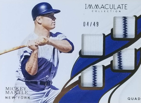 Mickey Mantle 2019 Immaculate Collection Quad Relic