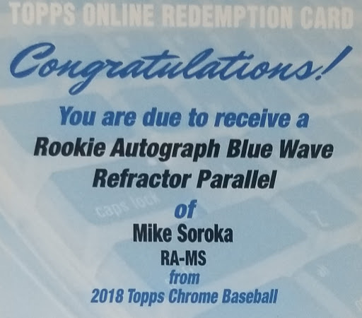 Soroka Topps Chrome Blue Wave Auto