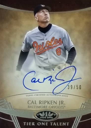 Cal Ripken Jr Tier One Auto /50