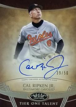 Cal Ripken Jr Tier One Auto /50