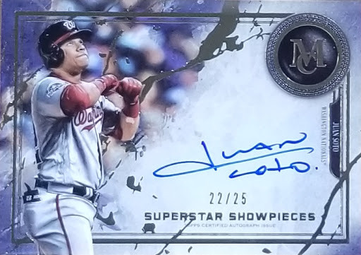 Juan Soto 19 Museum Collection Superstar Showpieces Auto /25