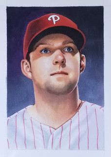 Rhys Hoskins 2019 Topps Gallery Artist Proof Original 1/1 - Oversized