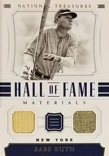 Babe Ruth 2018 National Treasures Dual Relic