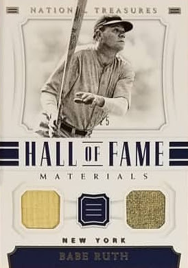 Babe Ruth 2018 National Treasures Dual Relic
